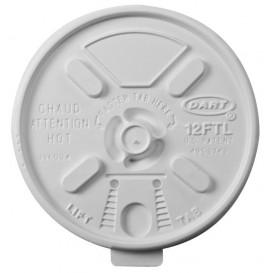 """Plastikdeckel PS """"Lift n' Lock"""" Weiß Ø8,9cm (100 Stück)"""