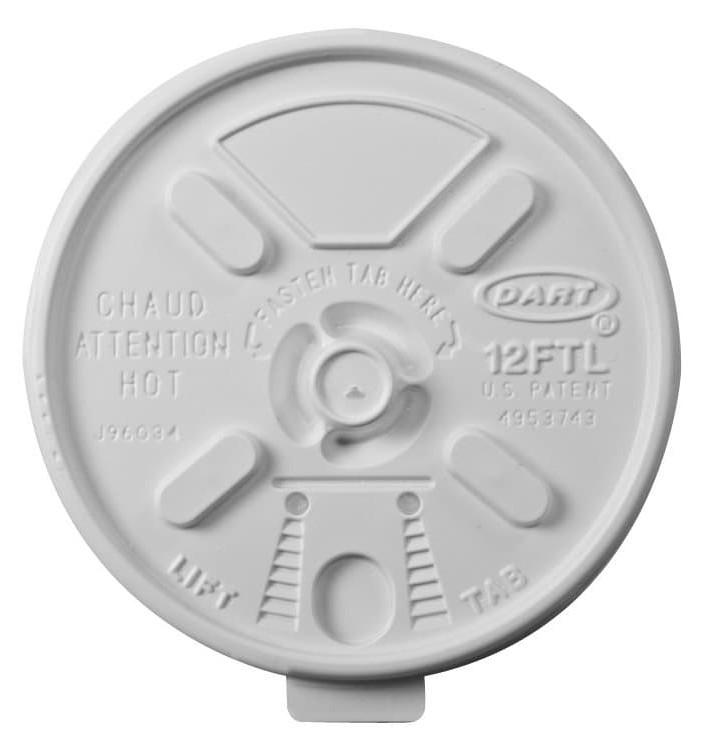 """PlastikDeckel """"Lift n'Lock"""" PS Weiß Ø8,9cm (1000 Stück)"""