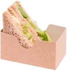 Envase para Sandwich Kraft (25 Unidades)