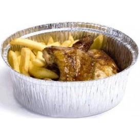 Aluschalen rund für Hähnchen 1.900ml (125 Stück)
