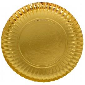Pappteller Rund Gold 230mm (300 Einh.)