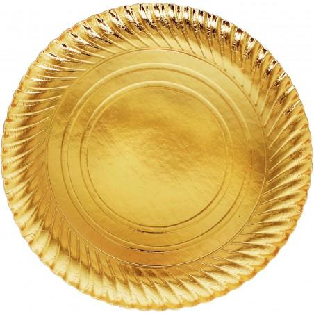 Pappteller Rund Gold 300mm (100 Einh.)