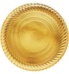 Pappteller Rund Gold 300mm (200 Stück)