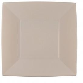 Plastikteller Flach Quadratisch Silber 290mm (12 Stück)