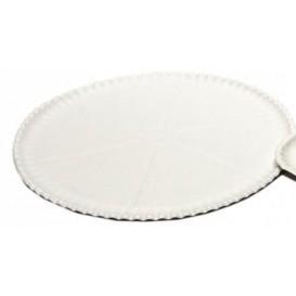 Pizzateller Pappe Weiß Ø33cm (100 Stück)