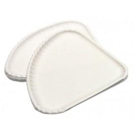 Pizzateller Pappe Weiß 1/4 30x21cm (500 Stück)