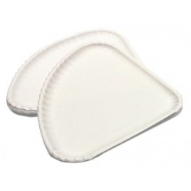 Pizzateller Pappe Weiß 1/4 30x21cm (100 Stück)