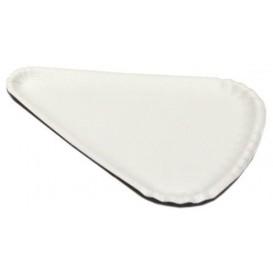 Pizzateller Pappe Weiß 1/8 24x18cm (100 Stück)