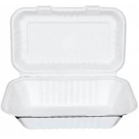 Menübox Zuckerrohr Weiß 225x165x64mm (200 Stück)