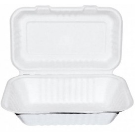 Menübox Zuckerrohr Weiß 225x165x64mm (50 Stück)