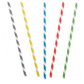 Trinkhalme aus Paper Starr Flexibel Ø6mm 230mm (250 Stück)