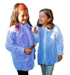 PP Schutzmäntel Kind Blau Klettverschluss Ohne Tasche (50 Stück)