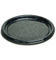Servierplatte Plastik rund Marmor 34cm (50 Stück)