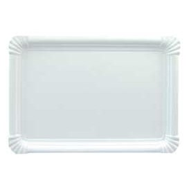 Pappschale rechteckig weiß 31x38cm (150 Stück)