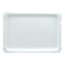 Pappschale rechteckig weiß 34x42cm (50 Stück)
