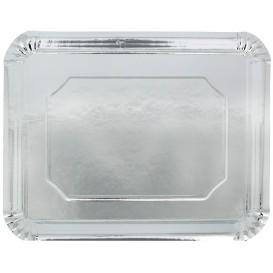 Pappschale rechteckig Silber 34x42cm (200 Stück)