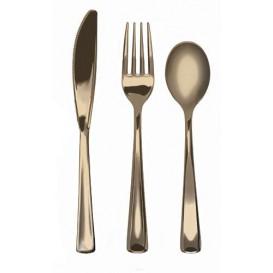 Besteckset aus Gabel, Messer und Löffel Gold Metallisiert (1 Set)