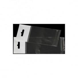 Flachbeutel BOPP Falte Klebstoff mit Euro-Loch 6,5x17cm G160 (1000 Stück)