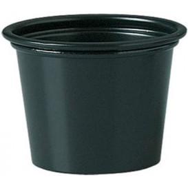 Dressingbecher PP für Soβen schwarz 30ml Ø48mm (250 Stück)