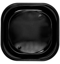 Plastikteller Platz PS flach Schwarz 200x200mm (30 Stück)
