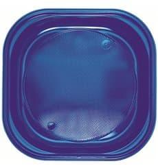 Plastikteller PS Platz Flach Dunkelblau 200x200mm (30 Stück)