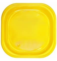 Plastikteller PS Platz flach Gelb 200x200mm (30 Stück)