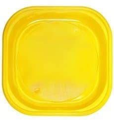 Plastikteller PS Platz flach Gelb 200x200mm (720 Stück)