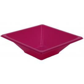Viereckige Plastikschale Pink 12x12cm (12 Stück)