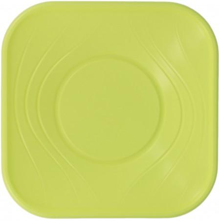 "Viereckige Plastikschale PP ""X-Table"" Lime 180x180mm (8 Stück)"