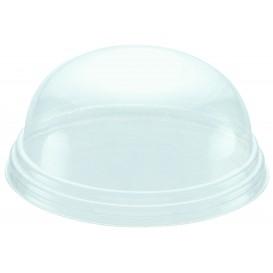 Dom Deckel ohne Loch für Pappbecher für Eis 6,5oz/195ml (100 Stück)