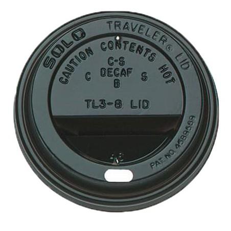 Deckel für Becher mit Trinkloch schwarz 6 und 8Oz Ø7,9cm (1.000 Stück)
