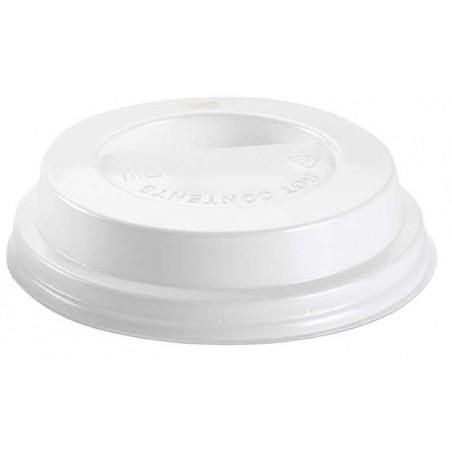 Deckel für Becher mit Trinkloch weiß 10Oz/300ml Ø8,4cm (100 Stück)