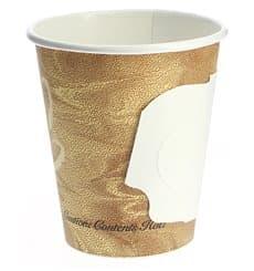 """Karton Kaffeebecher """"Mistique"""" 6Oz/180ml mit Griff Ø7,4cm (50 Stück)"""
