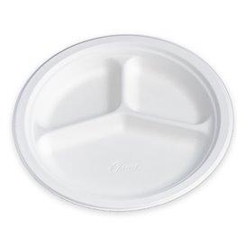 Chinet Teller 3-geteilt 260mm (135 Stück)