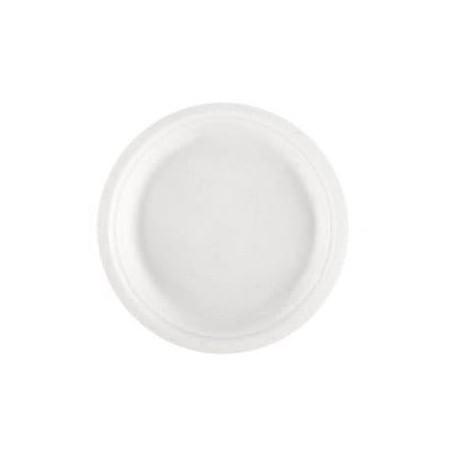 Teller Zuckerrohr Weiß Ø230mm (50 Stück)