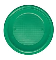 Plastikteller PS Tief Grün Ø220mm (30 Stück)