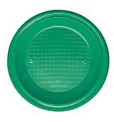Plastikteller PS Tief Grün Ø220mm (600 Stück)