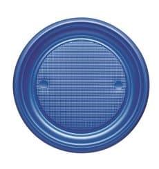 Plastikteller PS Flach Dunkelblau Ø170mm (50 Stück)