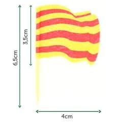 """Holzspieße Flagge """"Katalonien"""" 65mm (144 Einh.)"""