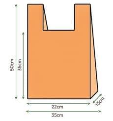 Hemdchenbeutel Orange 35x50cm (200 Einh.)