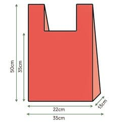 Hemdchenbeutel rot 35x50cm (1000 Einh.)