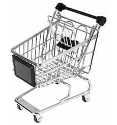 Mini-Einkaufswagen für die Präsentation 130x135cm (6 Stück)