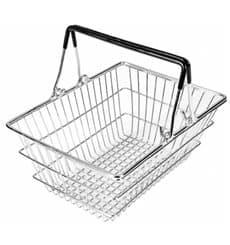 Mini-Einkaufskorb aus Stahl 18,5x13,5x9cm (6 Stück)