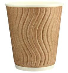 Biologischer Kaffeebecher aus Wellpappe 9Oz/270ml Ø8cm (30 Stück)