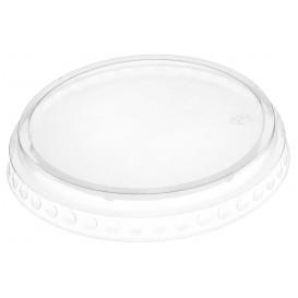 Deckel ohne Loch PET Glasklar Ø9,5cm (112 Stück)