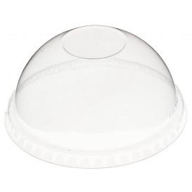Domdeckel ohne Loch PET Glasklar Ø9,3cm (100 Stück)