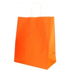 Papiertüten Orange mit Henkeln 26+14x32cm (250 Stück)