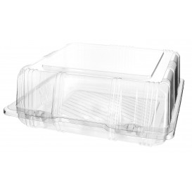Klappbox PET für Gebäck 20x20x8cm (220 Stück)
