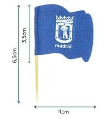 "Holzspieße Flagge ""Madrid"" 65mm (144 Einh.)"