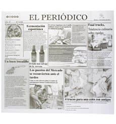 """Wachspapier fettdicht """"Periodico"""" für Burger 28x31cm (1.000 Stück)"""